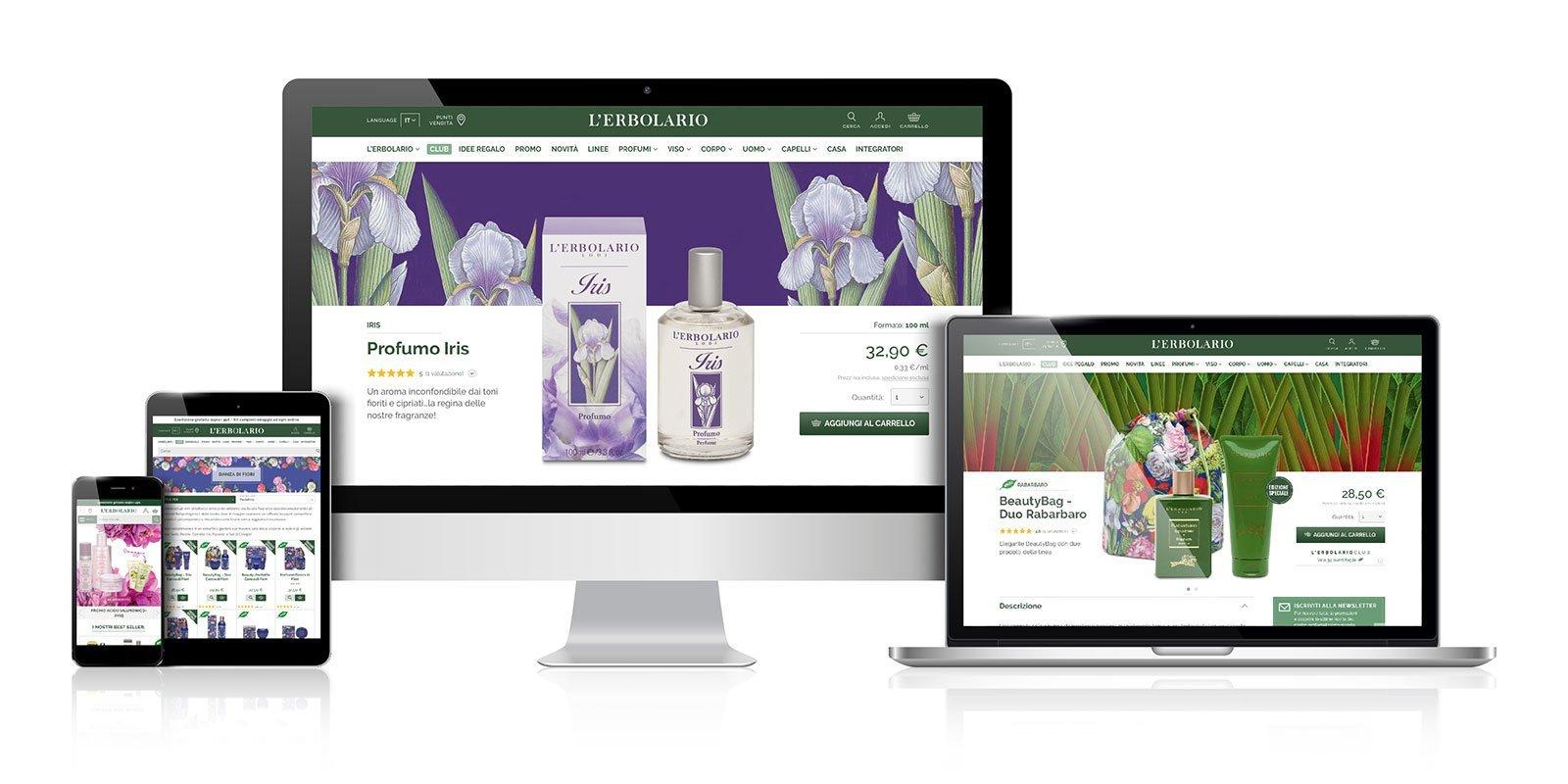 Realizzazione siti web per cosmesi naturale - Blulab